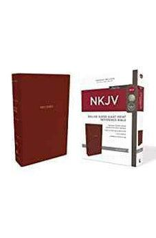 NKJV, Deluxe Reference Bible, Super Giant Print, Leathersoft, Red, Red Letter Edition, Comfort Print 9780785218043