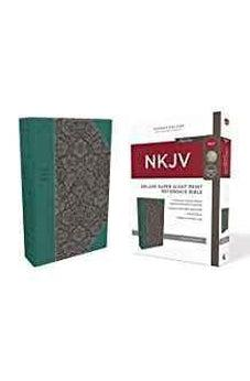 NKJV, Deluxe Reference Bible, Super Giant Print, Leathersoft, Green, Red Letter Edition, Comfort Print 9780785218050