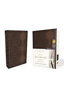KJV, Journal the Word Bible, Leathersoft, Brown, Red Letter Edition, Comfort Print: Reflect, Journal, or Create Art Next to Your Favorite Verses 9780785218302