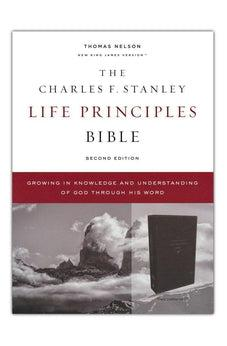 NKJV, Charles F. Stanley Life Principles Bible, 2nd Edition, Leathersoft, Black, Comfort Print