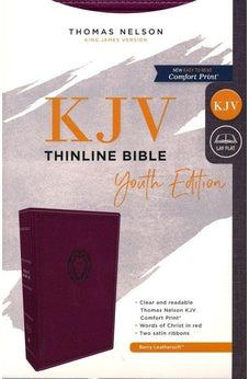 KJV, Thinline Bible Youth Edition, Leathersoft, Purple, Red Letter Edition, Comfort Print