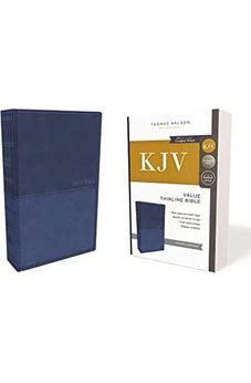 KJV, Value Thinline Bible, Leathersoft, Blue, Red Letter Edition, Comfort Print 9780785225980