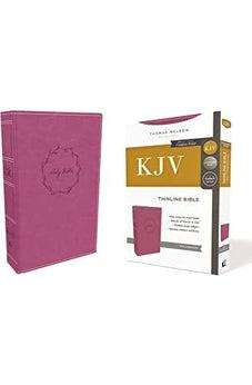 KJV, Thinline Bible, Leathersoft, Pink, Red Letter Edition, Comfort Print