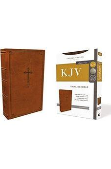 KJV, Thinline Bible, Leathersoft, Brown, Red Letter Edition, Comfort Print 9780785226000