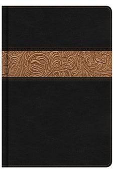 KJV Reader's Bible, Black/Brown Tooled LeatherTouch 9780805489606