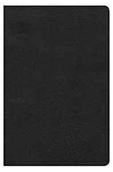 HCSB Ultrathin Reference Bible, Black LeatherTouch, Indexed 9780805489613