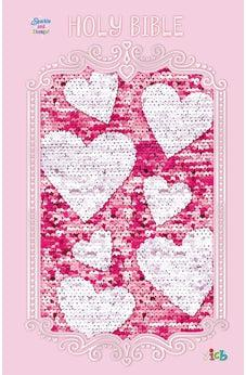 ICB, Sequin Sparkle and Change Bible, Hardcover, Pink 9781400210732
