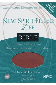 NIV, New Spirit-Filled Life Bible, Imitation Leather, Tan/Brown: Kingdom Equipping Through the Power of the Word (Signature) 9781401679293