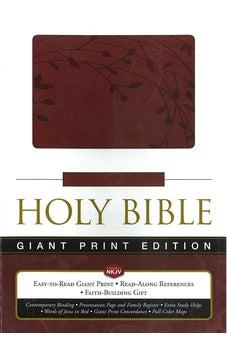 NKJV Giant Print Edition Holy Bible Raspberry Leathersoft 9781404105645