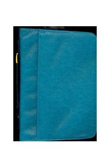 Teal Imitation Leather Bible Cover Large 9781404106499