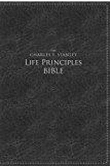 NKJV, The Charles F. Stanley Life Principles Bible, Large Print, Imitation Leather, Black, Indexed: Large Print Edition