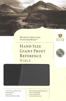 HCSB Hand Size Giant Print Reference Bible 9781433601712