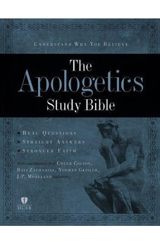 Apologetics Study Bible - Black Genuine Leather Indexed 9781433602849
