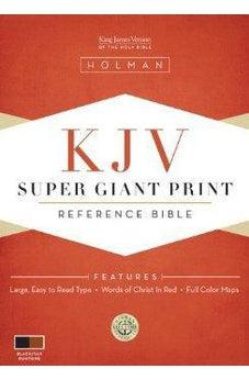 KJV Super Giant Print Reference Bible - Black/Tan Duotone Simulated Leather 9781433602931