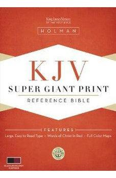 KJV Super Giant Print Reference Bible - Black/Burgundy Simulated Leather 9781433602948