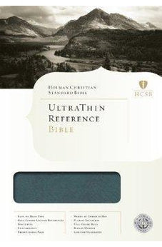 HCSB Ultrathin Reference Bible, Mantova Blue LeatherTouch 9781433603259