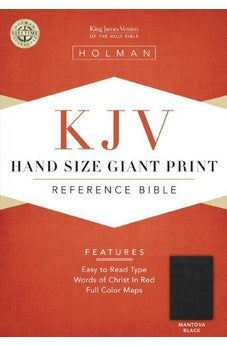 KJV Large Print Personal Size Reference Bible, Mantova Black LeatherTouch 9781433603426