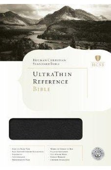 HCSB Ultrathin Reference Bible, Mantova Black LeatherTouch 9781433603433