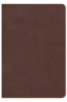 KJV Large Print Ultrathin Reference Bible, Chocolate/Brown LeatherTouch 9781433603723