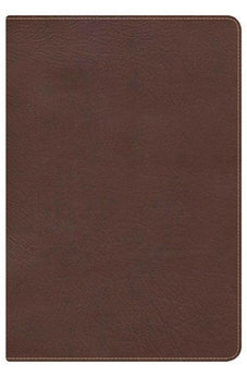 KJV Large Print Ultrathin Reference Bible, Chocolate/Brown LeatherTouch Indexed 9781433603730