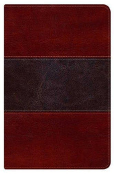 HCSB Ultrathin Reference Bible, Mahogany LeatherTouch Indexed 9781433603815