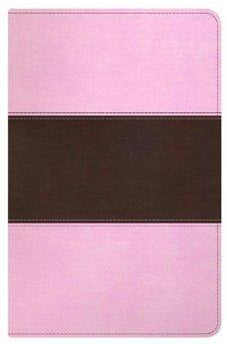 HCSB Ultrathin Reference Bible, Pink/Brown LeatherTouch Indexed 9781433603822