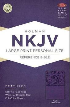 NKJV Large Print Personal Size Reference Bible, Purple LeatherTouch 9781433604850
