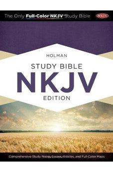 Image of Holman Study Bible: NKJV Edition, Mahogany LeatherTouch 9781433605079