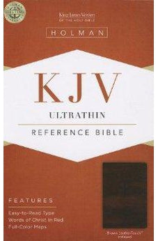 KJV Ultrathin Reference Bible, Brown LeatherTouch Indexed 9781433605215