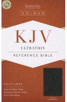 KJV Ultrathin Reference Bible, Charcoal LeatherTouch 9781433605222
