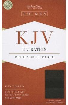 KJV Ultrathin Reference Bible, Brown/Chocolate LeatherTouch Indexed 9781433605253