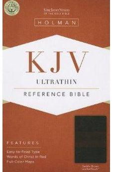 KJV Ultrathin Reference Bible, Saddle Brown LeatherTouch 9781433605345