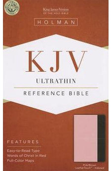 KJV Ultrathin Reference Bible, Pink/Brown LeatherTouch Indexed 9781433605376