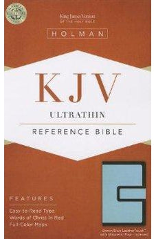 KJV Ultrathin Reference Bible, Brown/Blue LeatherTouch with Magnetic Flap Indexed 9781433605390