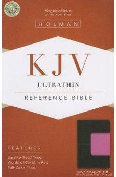 KJV Ultrathin Reference Bible, Brown/Pink LeatherTouch with Magnetic Flap Indexed 9781433605413