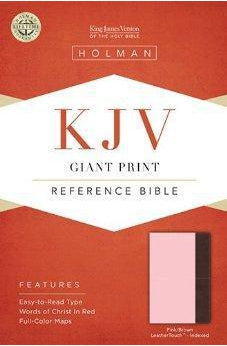 KJV Giant Print Reference Bible, Pink/Brown LeatherTouch Indexed 9781433605642