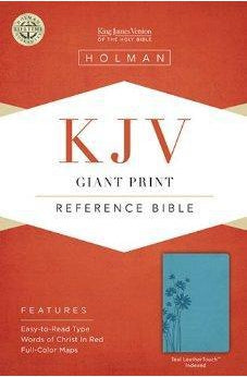 KJV Giant Print Reference Bible, Teal LeatherTouch Indexed 9781433605703