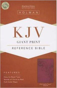 KJV Giant Print Reference Bible, Pink LeatherTouch Indexed 9781433605741