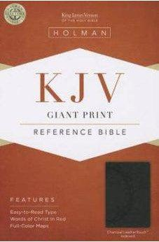 KJV Giant Print Reference Bible, Charcoal LeatherTouch Indexed 9781433605789