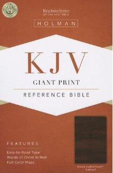 KJV Giant Print Reference Bible, Brown LeatherTouch Indexed 9781433605802