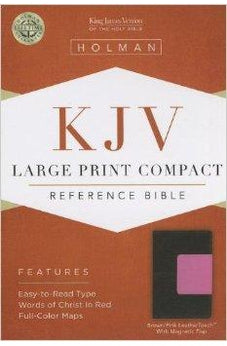 KJV Large Print Compact Reference Bible, Brown/Pink LeatherTouch with Magnetic Flap 9781433605857