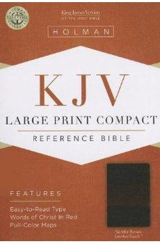 KJV Large Print Compact Reference Bible, Saddle Brown LeatherTouch 9781433605888