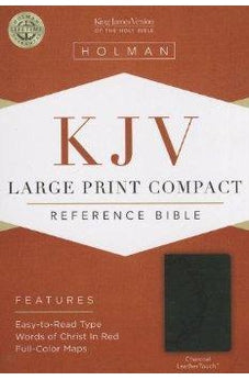 KJV Large Print Compact Reference Bible, Charcoal LeatherTouch 9781433605949
