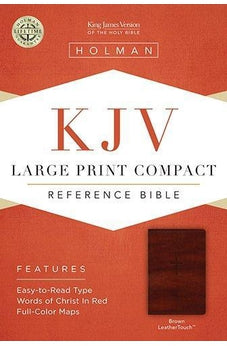KJV Large Print Compact Reference Bible, Brown LeatherTouch 9781433605956