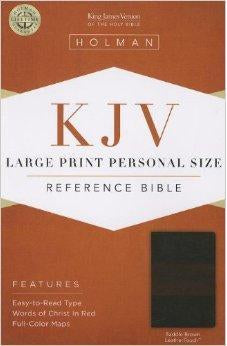 KJV Large Print Personal Size Reference Bible, Saddle Brown LeatherTouch 9781433606144