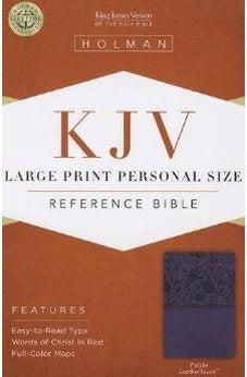 KJV Large Print Personal Size Reference Bible, Purple LeatherTouch 9781433606151