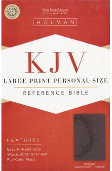 KJV Large Print Personal Size Reference Bible, Charcoal LeatherTouch Indexed 9781433606205