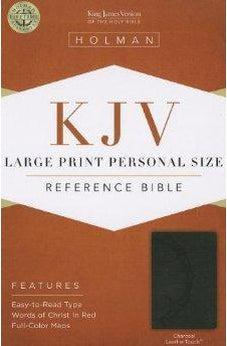 KJV Large Print Personal Size Reference Bible, Charcoal LeatherTouch 9781433606212