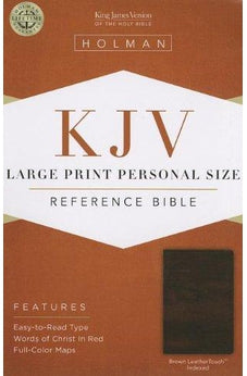 KJV Large Print Personal Size Reference Bible, Brown LeatherTouch Indexed 9781433606229