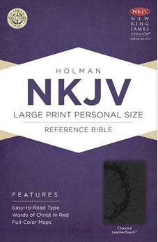 NKJV Large Print Personal Size Reference Bible, Charcoal LeatherTouch 9781433606571
